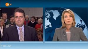 M. Slomka und S. Gabriel - Misskommunikation - Screenshot ZDF heute-journal (c)